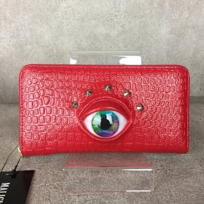 【MALICIOUS.X】EYE WALLET LONG(RED)/GREEN+BLUE 特殊メイク義眼入り長財布
