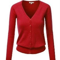 Women Autumn Long Sleeve Sweater Cardigan Sweater Coat Color: pink  red  black  dark gray  yellow  c