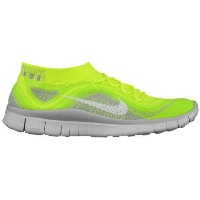 (取寄)ナイキ メンズ フリー フライニット + Nike Men's Free Flyknit + Volt White Electric Green Wolf Grey