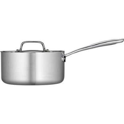 Tramontina 3-qt tri-ply Clad Sauce Pan with Lid ,ステンレススチール