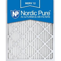 Nordic Pure 16x25x1 MERV 12 Pleated AC Furnace Air Filter, Box of 6 by Nordic Pure