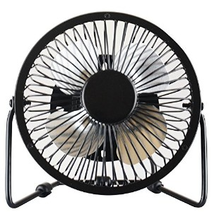 Cimostar Mini USB Desk Cooler Fan,(Metal Design, Large Air Flow, Quiet Operation), Black by Cimostar