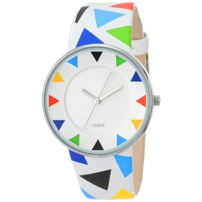 Alessi アレッシィ メンズ腕時計 Men's AL8012 Luna Stainless Steel Harlequin Decoration Designed by Alessandro...