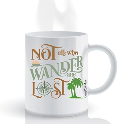 Not All Who Wander Are Lost 11oz Quoteコーヒーマグカップ