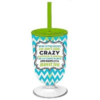 """"""" Crazy """" double-wallアクリルIced Tea Glass"""