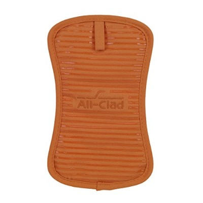 (Tangerine) - All-Clad Textiles Heavyweight 100-Percent Cotton Twill and Silicone Pot Holder,...