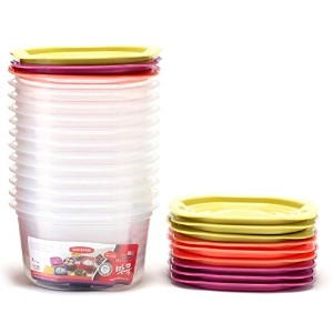 EASY N FREE 味クック 電子レンジ用 ご飯保管容器 BPA Free 460ml 12EAセット 海外直送品 (Rice Storage Container for Microwave...