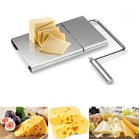 Betan Cheese Slicerステンレススチールワイヤカッターwith Serving Board forハードandセミハードチーズbutter-バタースライサ – Vegetable...