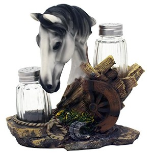Equine SpiceグレーSalt and Pepperホルダーby DWK