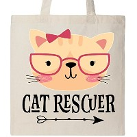 Inktastic – Cat Rescuer Pet Loverトートバッグ One Size
