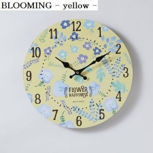 モチーフクロック 「SHOP series」 33cm / 掛時計 FLOWER SHOP BLOOMING-yellow-