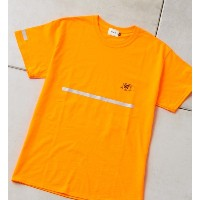 SAFETY S/S TEE【フーズフーギャラリー/WHO'S WHO gallery レディス, メンズ Tシャツ・カットソー オレンジ ルミネ LUMINE】