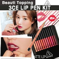 3CE DRAWING LIP PEN KIT★ 3ce リップペンシル 12色セット[Beauti Topping]
