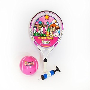 Le Petit Tennis Pink Racquet 19' Pink + Pink Ball for Ages 5 Model: LPT-19P-PINK by Toys & Child