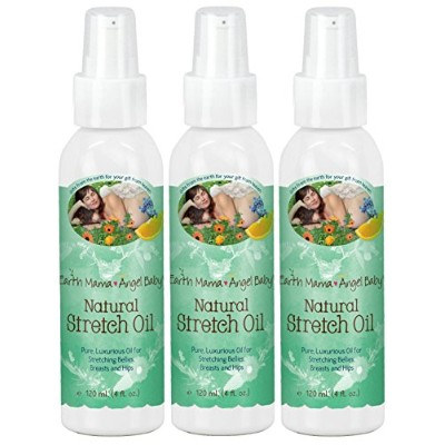 Earth Mama Angel Baby Natural Stretch Oil, 4 Oz. (120 ml) by Earth Mama Angel Baby