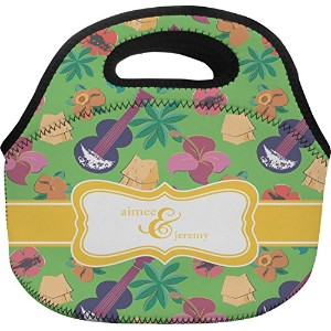 "パーティーにランチバッグ( Personalized ) Large (Approx. 12"" x 6"" x 11.5"") グリーン mi-lunch-tote-BAGC+200730"
