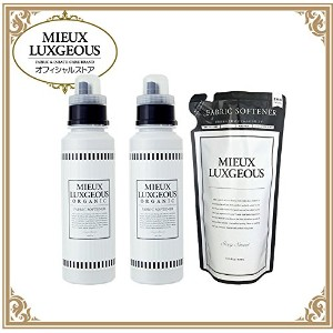 MIEUX LUXGEOUS ミューラグジャス 柔軟剤白2本 & 柔軟剤詰め替え用タイプ