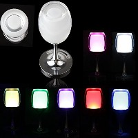 OriGlam充電式Wineglass Cup 16LEDライトランプの色変更with 3.3Ft / 1M USB充電ケーブル&接触スイッチ