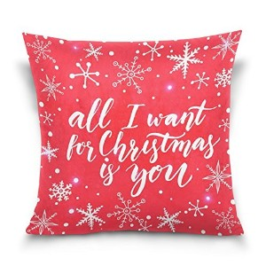 """Top Carpenter All I Want for Christmas YouベルベットPlush Throw枕クッションケースカバー–16"""" x 16""""–Invisible..."""