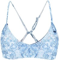 レディース ROXY RX Bikini top Prt Softly Love Rv Athletic Tri スイムブラ スカイブルー
