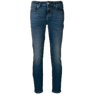 Alexander McQueen cropped skinny jeans - ブルー