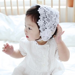 Ray skull chip baby bonnet lace band korea style