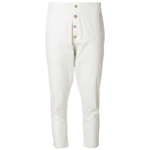 Kristensen Du Nord dropped crotch jodphur cropped trousers - ヌード&ナチュラル