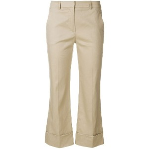 L'Autre Chose cropped flared trousers - ヌード&ナチュラル