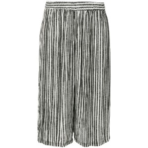 Humanoid cropped striped trousers - ブラック