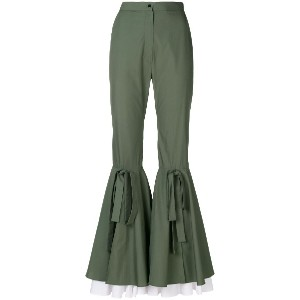 Milla Milla flared trousers - グリーン