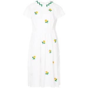 Jupe By Jackie floral embroidered shirt dress - ホワイト