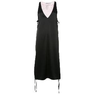 T By Alexander Wang Sleeveless double layer dress - ブラック