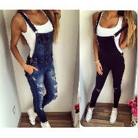 Denim Wash Overall for Women Fashion Women Jeans Jumpsuit Long Pants Rompers Womens Jumpsuit Sexy Ju