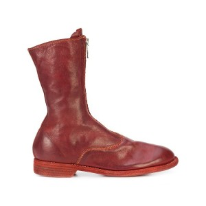 Guidi front zip boots - レッド