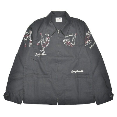 "GANGSTERVILLE LADY KILLER - JACKET (BLACK) ""バンダナ付"" ギャングスタービル ワークジャケット/スウィングトップ/GLADHAND【WEIRDO..."