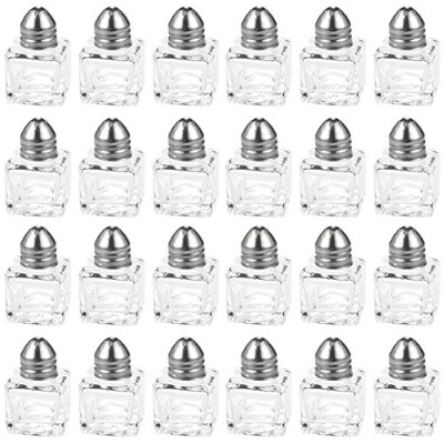 Salt and Pepper Shakers Set - 24-Piece Set of Salt Pepper Shakers, Glass Kitchenware, Mini Salt and...