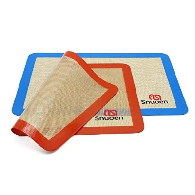 Silicone Baking Mat,2 Sheets Pack Size 42cm x 30cm Heat Range From -40 TO 500 Non Stick Even Heat...