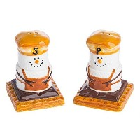 Smores Treats Campgroundお気に入りSalt and Pepper Shaker Set Earthenware