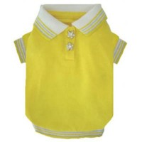 ★Puppe Love★Yellow Star Polo犬用ポロシャツ