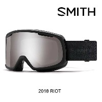 2018 SMITH スミス ゴーグル WOMEN'S GOGGLE RIOT BLACK MOSAIC/CHROMAPOP SUN PLATINUM MIRROR+YELLOW ASIAN FIT