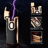 Metal Electric Double Arc USB Rechargeable Lighter Plasma Cigarette Touch Induction Lighter Windproo