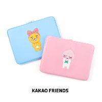 【Kakao friends】カカオフレンズPU型押ノートパソコンポーチ(15インチ)/PU tooling laptop pouch for 15-inch/2種・KAKAO FRIENDS正規品