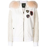 Mr & Mrs Italy contrasting sleeves bomber jacket - ホワイト