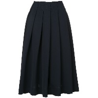 Le Ciel Bleu raw hem pleated skirt - ブルー