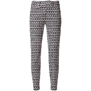 Dondup printed skinny cropped trousers - ブラック