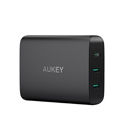 AUKEY USB充電器 ACアダプター 60W USB Type-C Power Delivery 3.0 + 5V/2.4A スマホ充電器 MacBook/Pro, Dell XPS,...