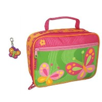 Stephen Joseph Butterfly Lunch Box with Butterfly Zipper Pull Charm - Kids Lunch Box by Stephen...