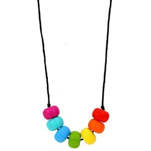 MyBoo Autism/Sensory/Teething Chewable Chunky Multi-Colored Beaded Necklace - Brights by MyBoo
