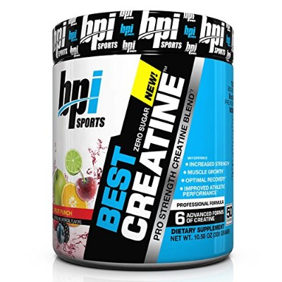BPI Sports Best Creatine Powder, Fruit Punch, 10.58 Ounce by BPI Sports