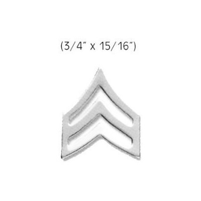 """SERGEANT Police Fire EMS Army Collar Brass Pins Insignia Badge Emblem NICKEL Finish, LARGE 3/4"""" x..."""